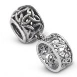 Outlander Inspired Ring Silver Bead Charm 9964